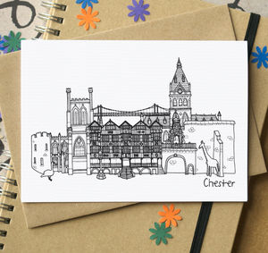 Chester Landmarks Greetings Card - shop by category