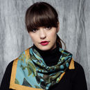 Tropical Leaf Square Silk Scarf