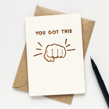 'You Got This' Motivational Wooden Card