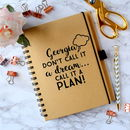 Call It A Plan Personalised Notebook