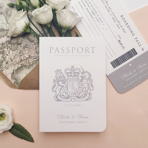 'Around The World' Passport Wedding Invitation - wedding stationery