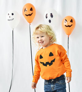 'Pumpkin Face' Halloween Children's Sweatshirt Jumper - summer sale