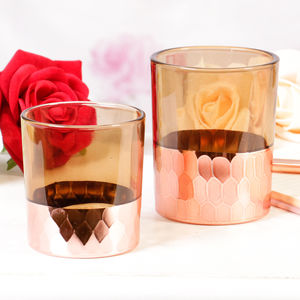 Beaten Copper Candle Jars - room decorations