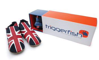 Men's leather union jack flag design slippers
