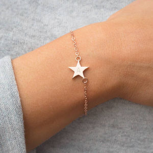 Chloe Initial Star Personalised Bracelet - december birthstone