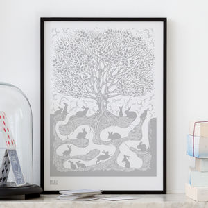 'Burrow' Rabbit Screen Print - new in prints & art