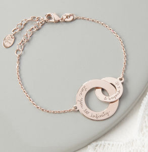 Personalised Intertwined Chain Bracelet - gifts for her