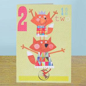 Age Two Girls Birthday Card