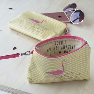 Personalised Hidden Message Flamingo Purse - new in baby & child