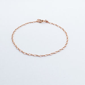 Rose Gold Filled Figure Of Eight Bracelet - bracelets & bangles