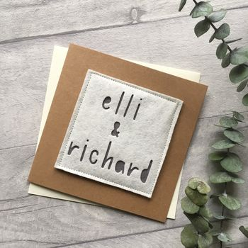 Personalised Wedding Couple Name Card