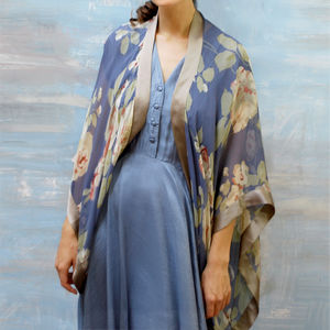 Bohemian Style Silk Shrug - coats & jackets