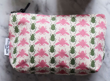 Bee And Beetle Small Make Up Bag