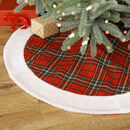 Traditional Tartan Fabric Christmas Tree Skirt