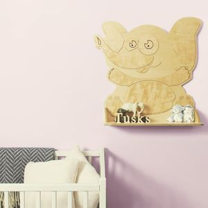 Personalised Elephant Wooden Children's Bookshelf - brand new partners