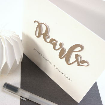 Pearl 30th Wedding Anniversary Card
