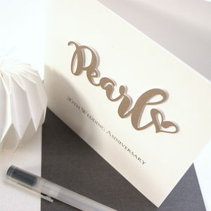 Pearl 30th Wedding Anniversary Card - anniversary cards