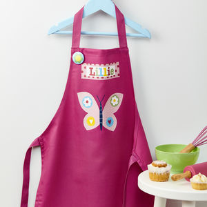 Girls Personalised Butterfly Apron