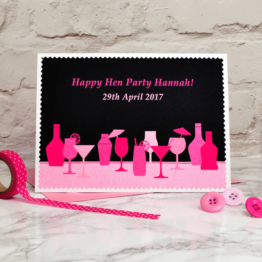 personalised hen night card by jenny arnott cards & gifts ...