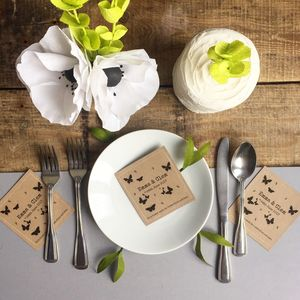 Personalised Butterfly Wild Flower Seed Packet Favours - wedding favours