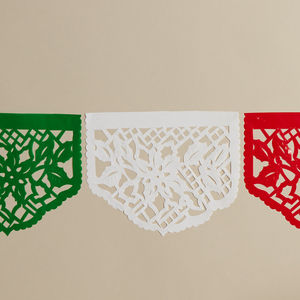 Set Of Five Mexican Poinsettia Christmas Stickers