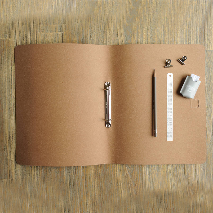 Undercover Recycled Leather A4 Ring Binder By Undercover