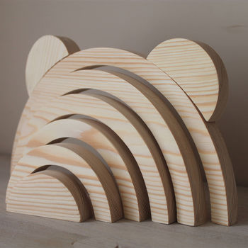 Wooden Stacking Rainbow With Ears