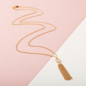 Gold Tassel Necklace - necklaces & pendants