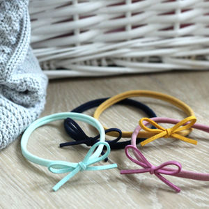 Suede Bow Headband - hair accessories