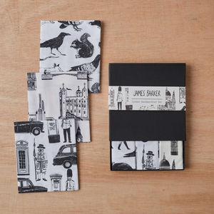 London Handkerchief Pocket Square Gift Set Of Three