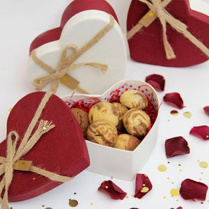 Valentines Heart Shape Shortbread Gift Box