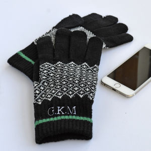 Monogram Touchscreen Gloves - hats & gloves