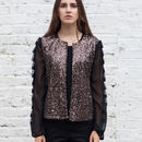 Ruffle And Sequin Jacket