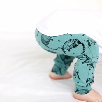 Armadillo Print Child And Baby Leggings