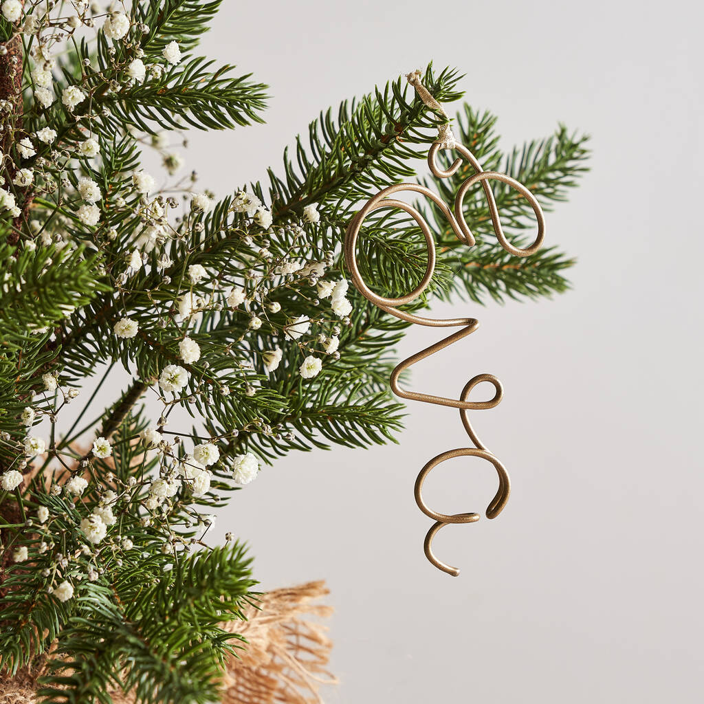 Personalised Wire Name Tree Decorations