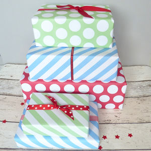 Christmas Wrapping Paper Set Of 12 Sheets - wrapping paper