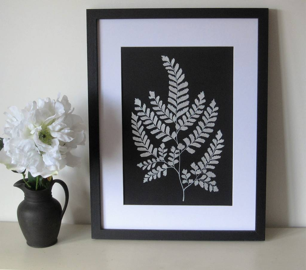 Framed Silver Fern Painting