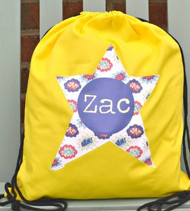 Boy's Personalised Pe Or Kit Bag Various Designs
