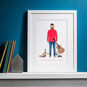 Personalised 'Our Daddy/Dad' Print - rock star