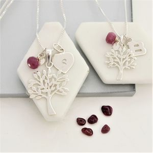Mama Et Moi Tree Of Life Necklaces With Birthstones - necklaces & pendants