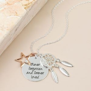 'Never Forgotten' Meaningful Words Necklace