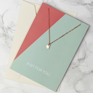 Just Because Jewellery Card - necklaces & pendants