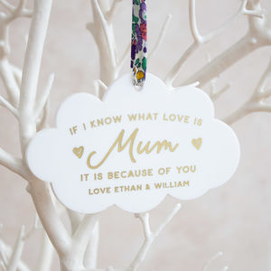Personalised 'What Love Is' Mum Hanging Keepsake - view all new