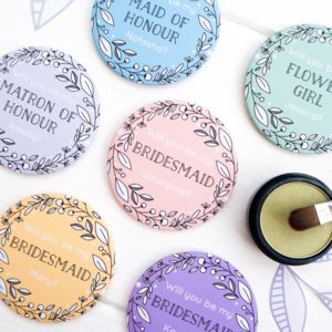 Personalised 'Be My Bridesmaid' Pocket Mirror - bridesmaid gifts