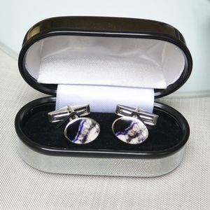 Blue John Sterling Silver Cufflinks