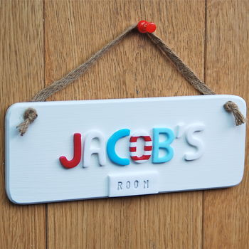Nautical Personalised door sign
