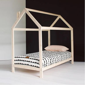 Raised Wooden House Bed
