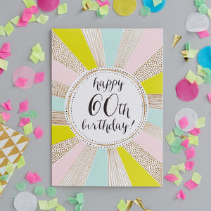 60th Birthday Foiled Greetings Card - shop by category