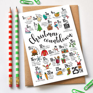 Christmas Countdown Advent Card - cards