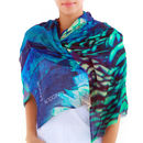 Beach Cover Up, Ladies Scarf Printed Modal, Peacock